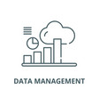 data management line icon linear concept vector image vector image