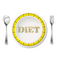 diet with measuring tape vector image vector image