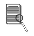 document paper magnifier system search vector image vector image
