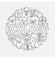 Ecology round symbol vector image