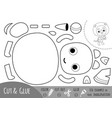 education paper game for children lion and a ball vector image vector image