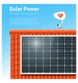 energy concept background with solar panel 4 vector image vector image