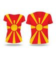 Flag shirt design of Macedonia vector image vector image
