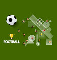 football - soccer playground with ball and gold vector image