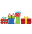 Gift boxes with ribbon vector image