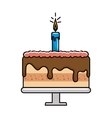 happy birthday delicious cake vector image