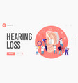 hearing loss deafness landing page template deaf vector image