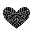 heart isolated on white background vector image vector image