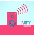 home party background in modern flat design vector image vector image
