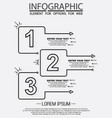 infographic of three simple style options in vector image vector image