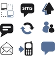 internet blog signs vector image vector image