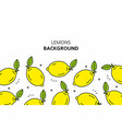 lemons background vector image