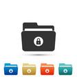 Locked folder icon isolated on white background