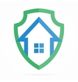 Logo combination of shield and house vector image vector image
