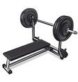 metal training barbell vector image