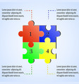 modern puzzle infographics template with four vector image vector image