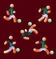 national soccer team style neon light soccer vector image vector image