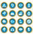 nature icons set symbols simple style vector image vector image
