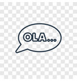 ol concept linear icon isolated on transparent vector image