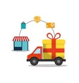 online payment shopping ecommerce vector image vector image