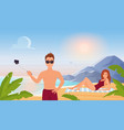 people in summer travel vacation tropical beach vector image