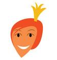 portrait of happy princess or color vector image vector image