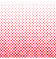 red heart pattern background - love concept vector image vector image
