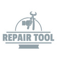 repair firm logo vintage style vector image vector image