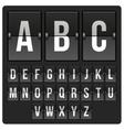 scoreboard with alphabet vector image vector image