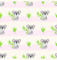 seamless pattern with cute koalas and vector image vector image