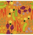 Seamless pattern with fresh vegetables vector image vector image