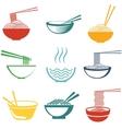 Set of noodles vector image