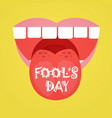 Smiling face first april fool day happy holiday