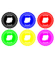 sudan rubber stamp vector image vector image