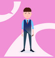 teen boy character grieved hold phone male vector image vector image