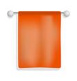 towel in bathroom mockup realistic style vector image vector image