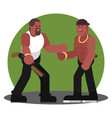 two mans greet each other vector image