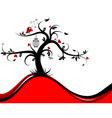 valentines tree background vector image