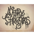 Vintage style christmas card vector image vector image