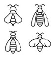 wasp icons set outline style vector image vector image