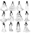 Wedding Bride Gown vector image
