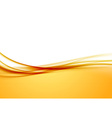 Abstract orange swoosh satin wave line border vector image
