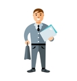 Business man Flat style colorful Cartoon vector image