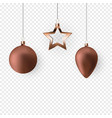 3d christmas balls for holiday new year design on vector image vector image