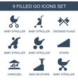 9 go icons vector image vector image