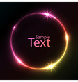 Abstract colorful glowing circle background vector image