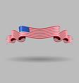 American wavy flag vector image vector image