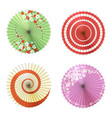 asian umbrellas set vector image vector image