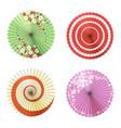 asian umbrellas set vector image