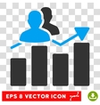 Audience Graph Eps Icon vector image vector image